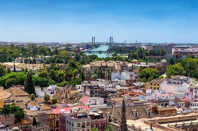 Free seville spain city urban skyline cityscape sky