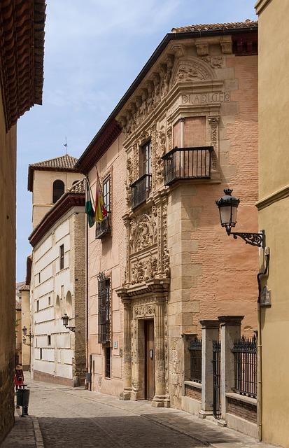Free granada spain buildings architecture walkway