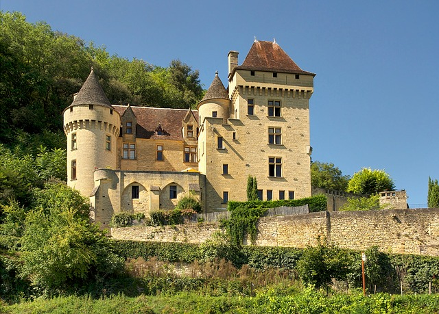 Free dordogne france malartrie castle palace building