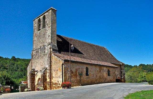 Free dordogne france church building architecture