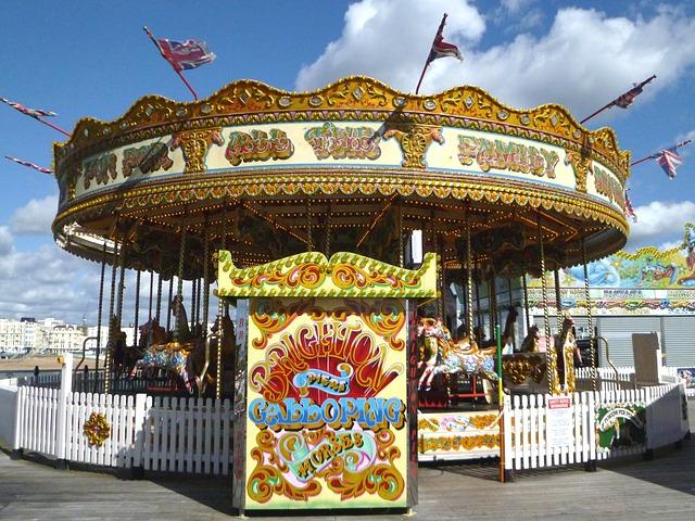 Free roundabout carousel funfair horse amusement