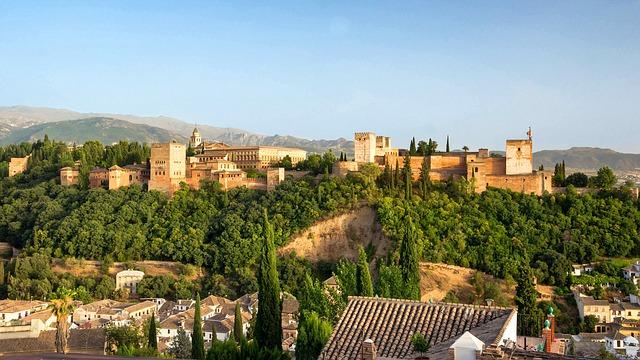 Free granada spain buildings the alhambra castle