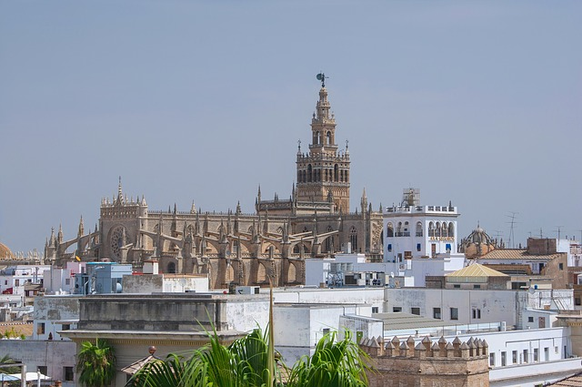 Free seville spain cathedral architecture skyline
