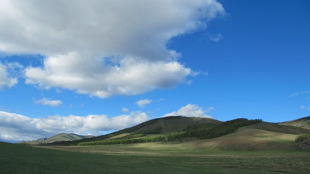 Free mongolia landscape scenic hills mountains valley