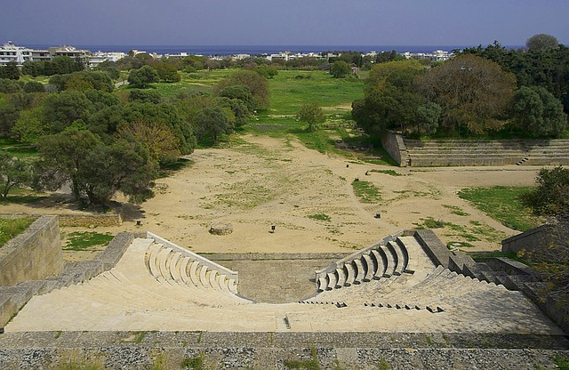 Free rhodes greece theatre ancient remains historic