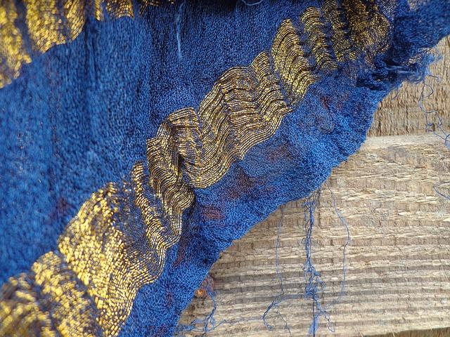 Free art cloth colorful on wood