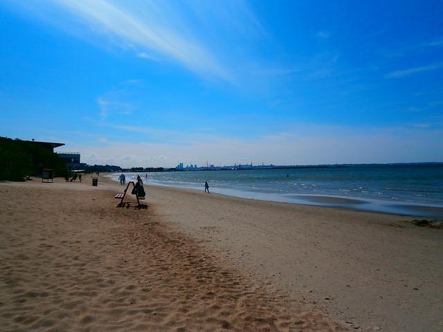 Free sea beach sand blue coast baltic estonia tallinn