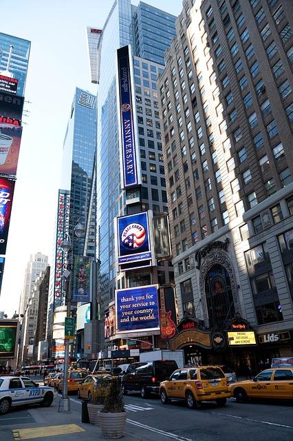 Free new york city manhattan skyscrapers urban downtown