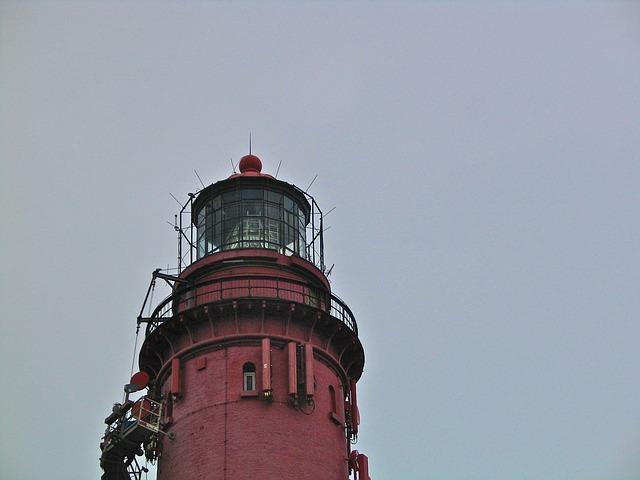Free lighthouse island north sea coast