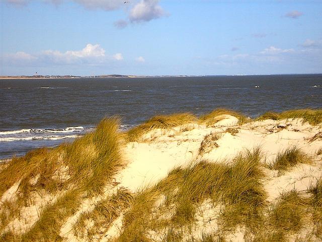Free island sea dunes north sea
