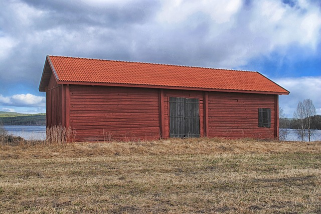 Free sweden landscape building barn wood wooden red