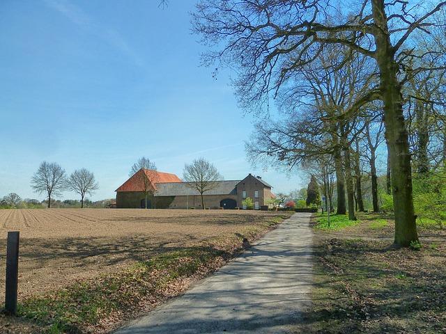 Free limburg netherlands farm barn house field plowed