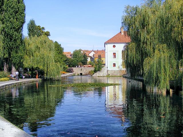 Free hungary buildings village architecture lake pond