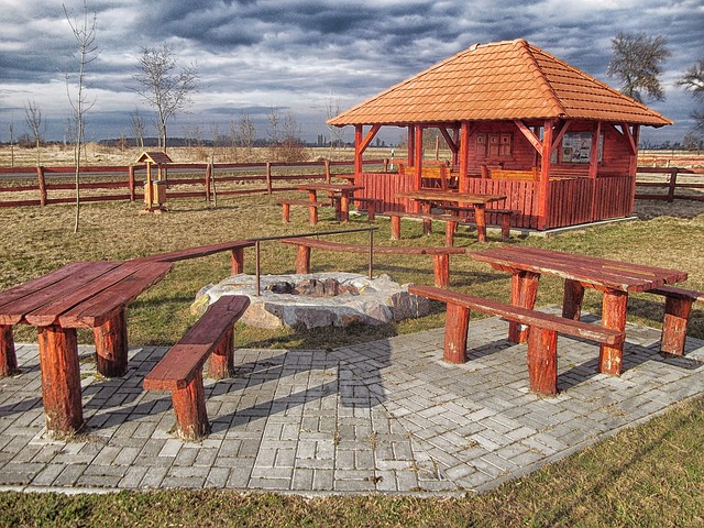 Free hungary rest area picnic spot building tables