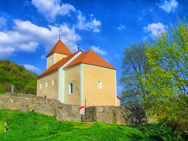 Free hungary church building architecture sky clouds