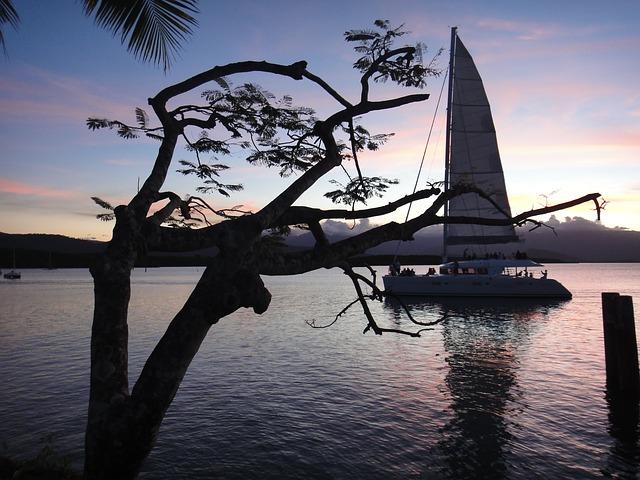 Free sail boot ship abendstimmung sailing boat