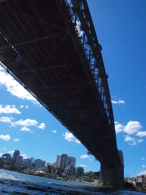 Free sydney harbor bridge low angle