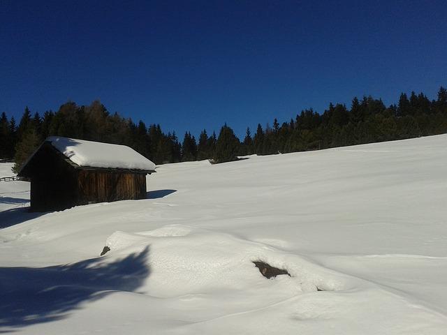 Free alm snow winter blue sky white