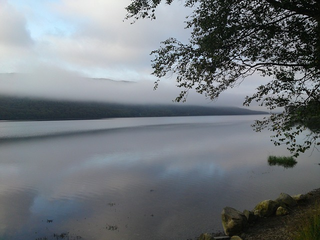 Free lake dawn sunrise fog mountains