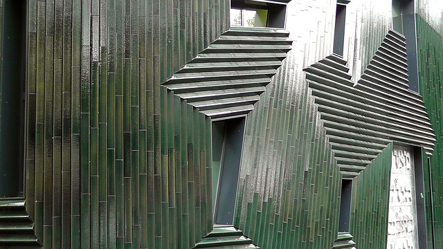 Free abstract art architecture modern art building
