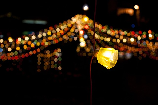 Free light bokeh background abstract christmas lights