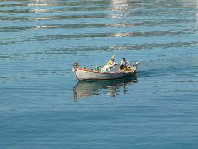 Free sea boat fisher greece water man