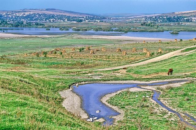 Free moldova landscape scenic stream water horse river