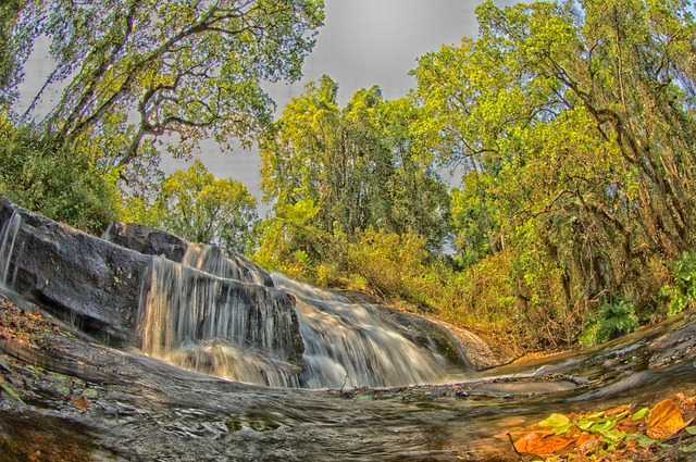 Free malawi landscape stream water cascade cascading