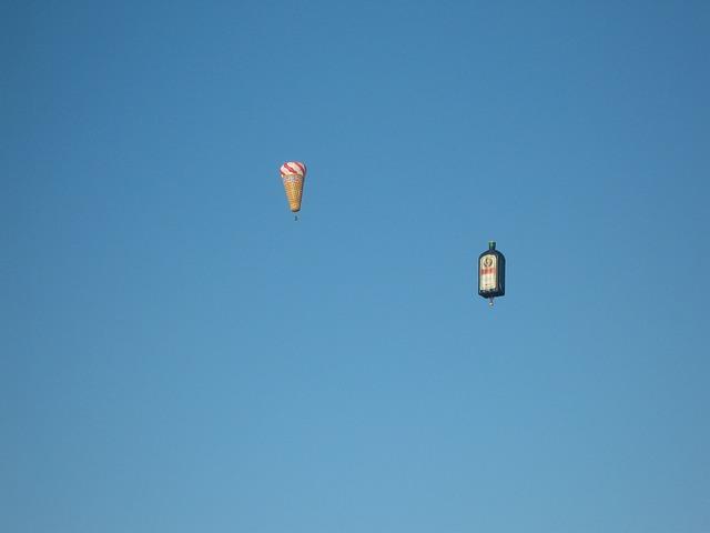Free hot air balloon air sports fly rise air sky