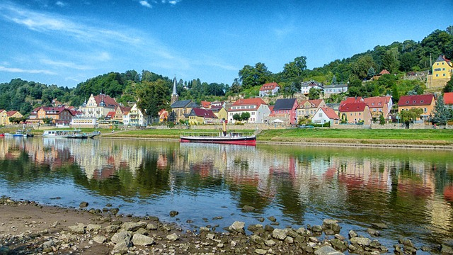 Free city wehlen germany landscape scenic river boats
