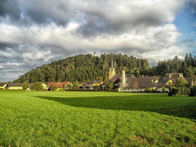 Free carinthia austria village buildings church