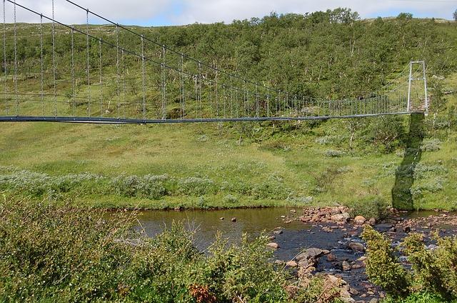 Free mountain bro suspension bridge natural construction