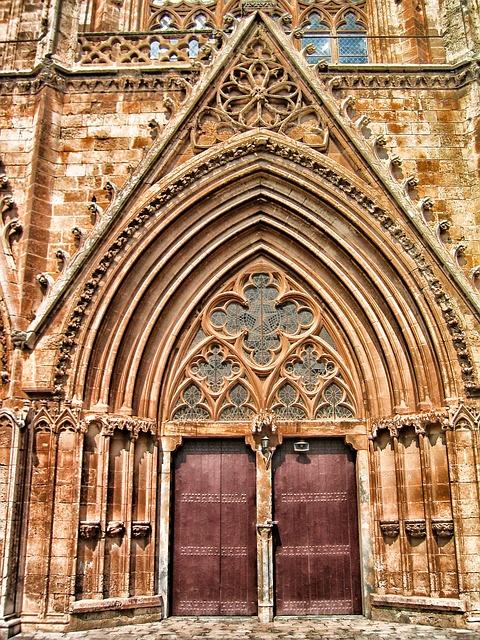 Free famagusta cyprus church building door entrance