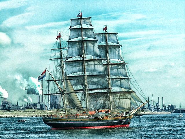Free amsterdam netherlands ship sky clouds bay harbor