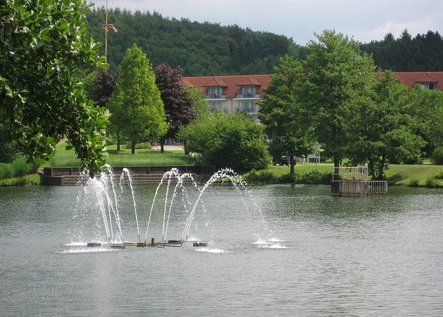 Free weiskirchen saarland kurpark water pond fountain