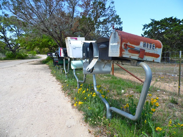 Free mailbox postbox usa country side