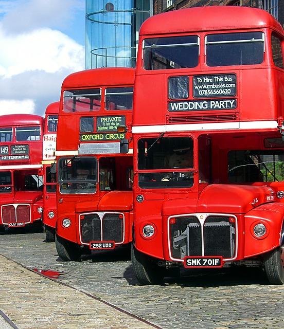 Free bus transportation vehicle touring bus red