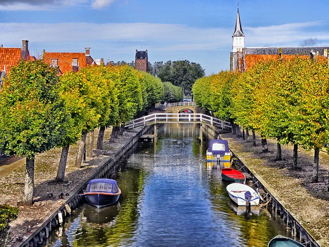 Free sloten netherlands canal waterway boats water