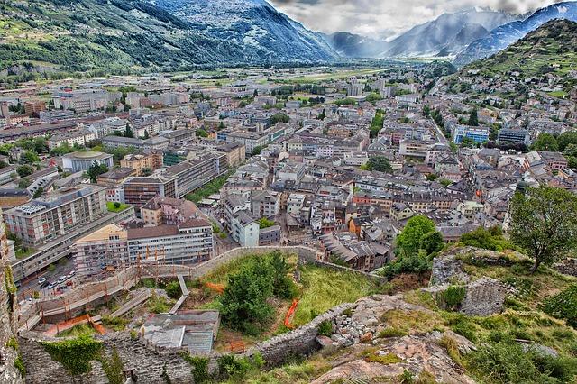 Free sion switzerland city town skyline mountains