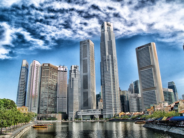Free singapore skyline skyscrapers buildings