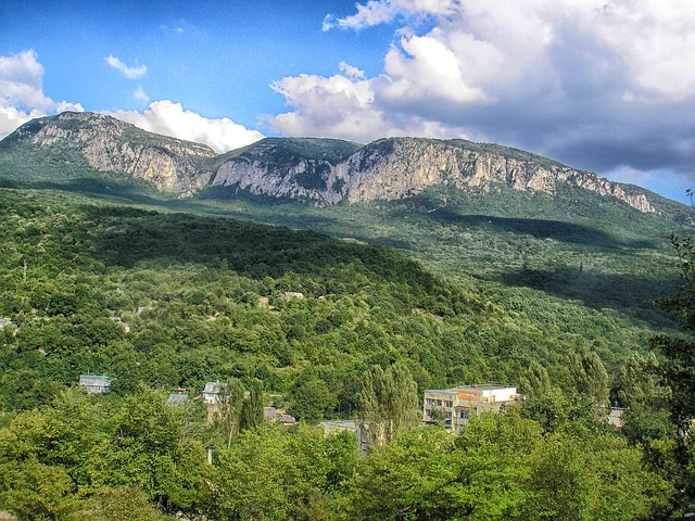 Free crimea landscape mountains valley ravine forest