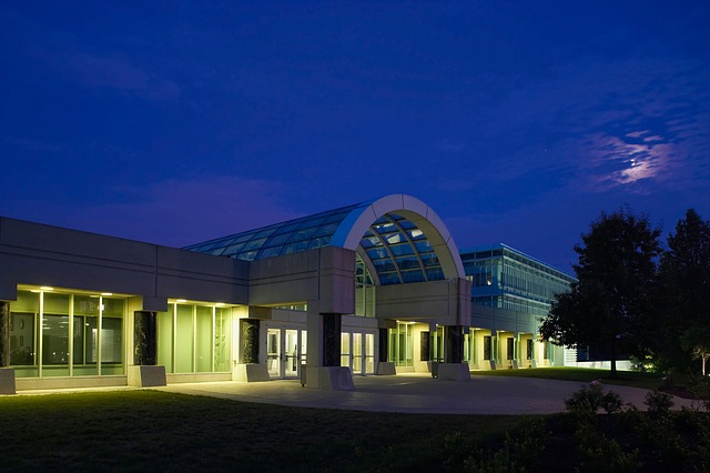 Free cia headquarter building night evening architecture