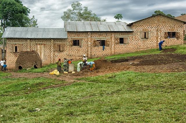 Free uganda building landscape sky clouds women man