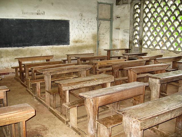 Free cameroon school classroom desks benches inside