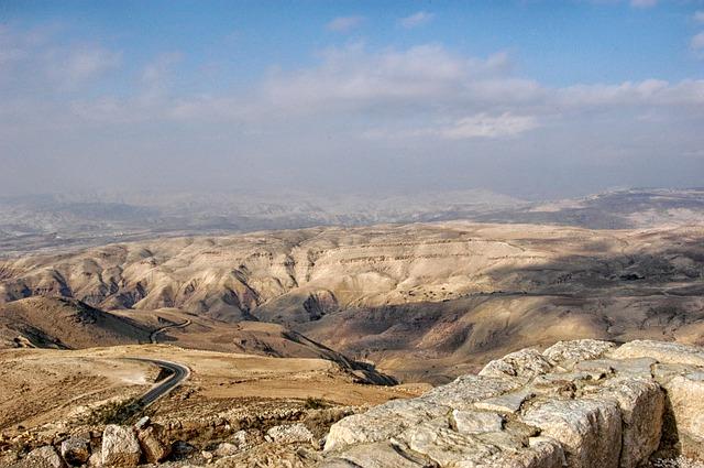 Free jordan landscape scenic desert mountains ravine