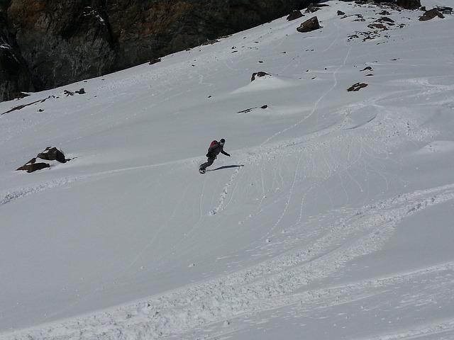 Free ski snowboard winter ice glacier cold dream day
