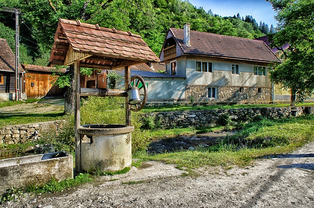 Free sibiel romania well house home forest trees
