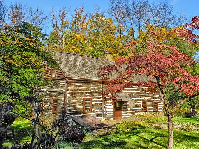 Free pennsylvania house home log cabin landmark