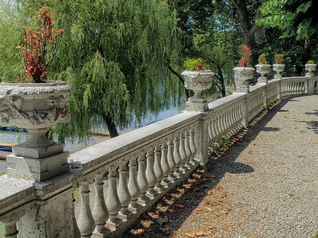 Free sesto calende italy patio railing walkway trees
