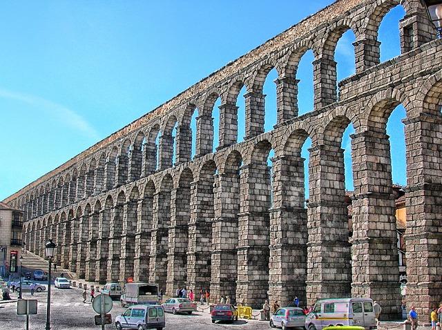 Free segovia spain aquaduct roman architecture columns